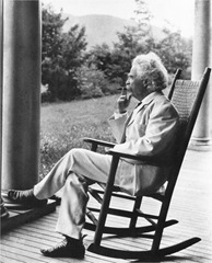 Mark Twain relaxing