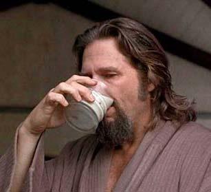 Big Lebowski Drinking My Coffee