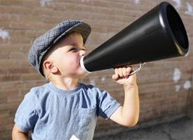 megaphone kid
