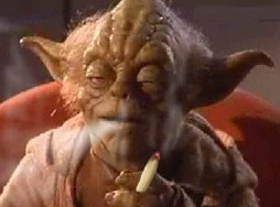 yoda smoking a j
