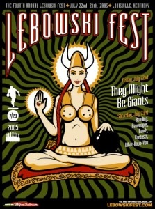 lebowskifest poster by bill green