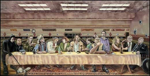 las supper lebowski poster