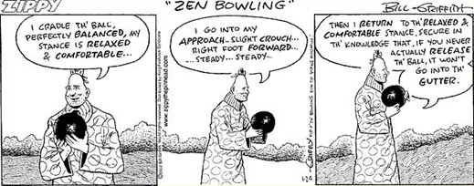 Zen Bowlin with Zippy the Pinhead