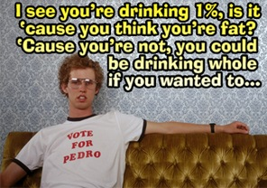 one percent milk