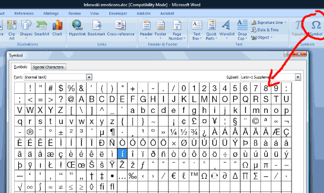 how to add delta symbol in word