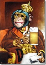 beer drinking monkey dude