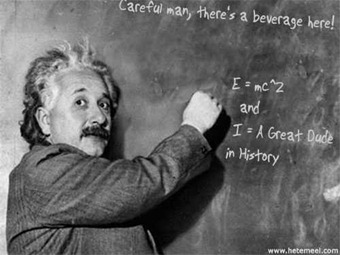 einstein is a dude