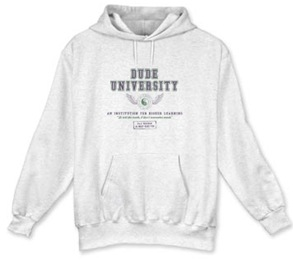 dude university sweatshirt