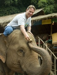 oliver on elephant