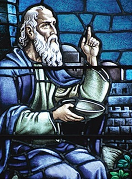 socrates stained glass