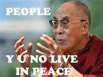 Dalai Lama, Y U No Live in Peace