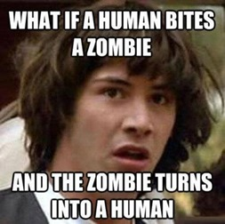 What if a human bites a zombie?