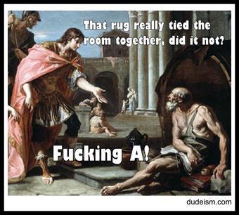 Diogenes Meets Alexander